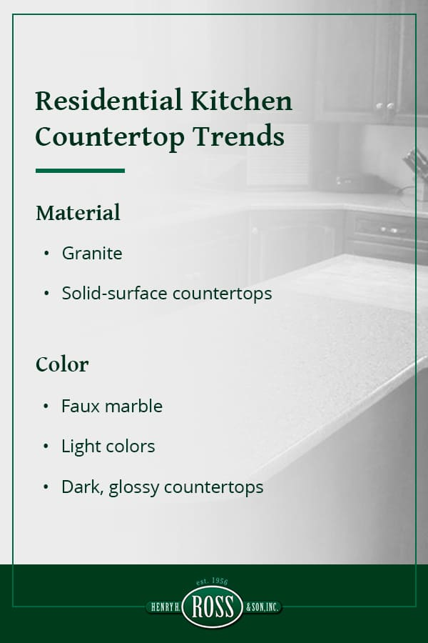 Residential Kitchen Countertop Trends