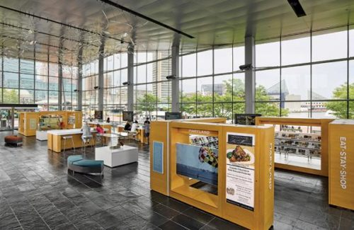 Baltimore Visitor Center With White Countertops