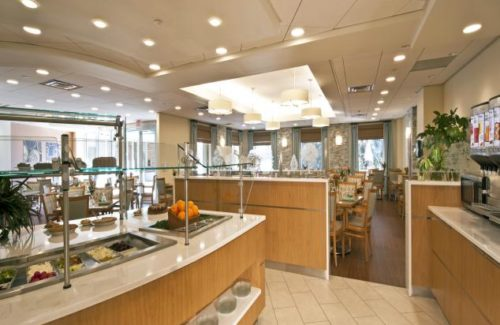 Restaurant Buffet With Cambria Dovedale Countertops