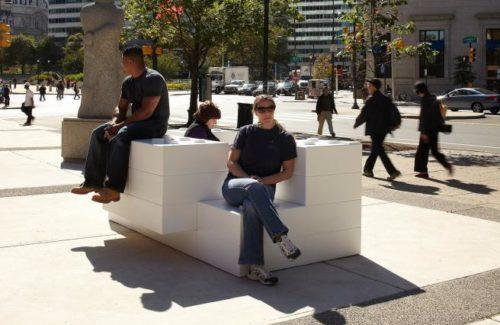 Lego Bench In Philadelphia, PA