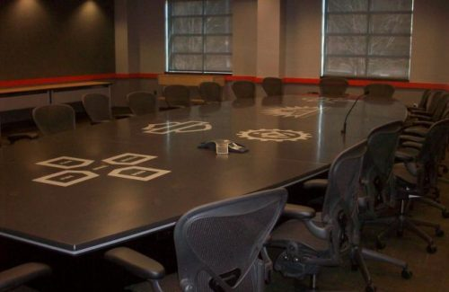 Corian Anthracite Business Meeting Table