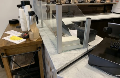 White Marbled Countertop In Bakery