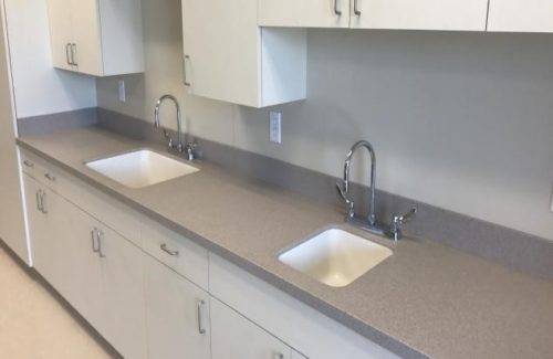 Gray Countertops In Kitchen Area