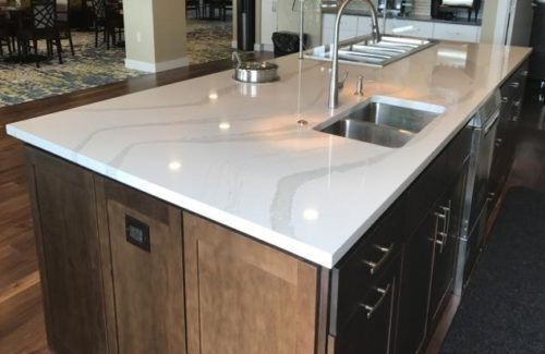 Marbled Island Top In Community Kitchen