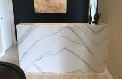 Marbled Concierge Desk Front View