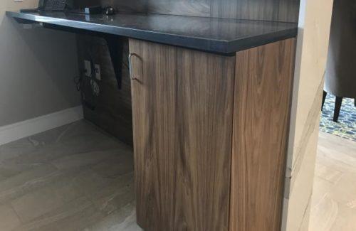 Concierge Desk With Black Countertop