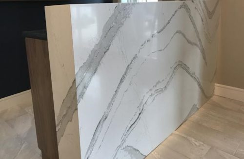 Marble Concierge Desk With Waterfall Edge