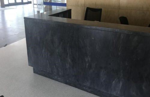 Corian Earth Dark Gray Front Desk