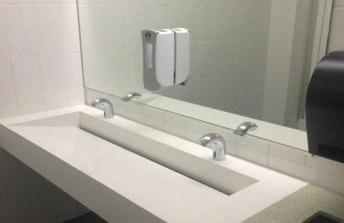 Small Trough Sink In Bathroom