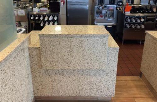 Vetrazzo Champagne Flint Countertop In Fast Food Chain