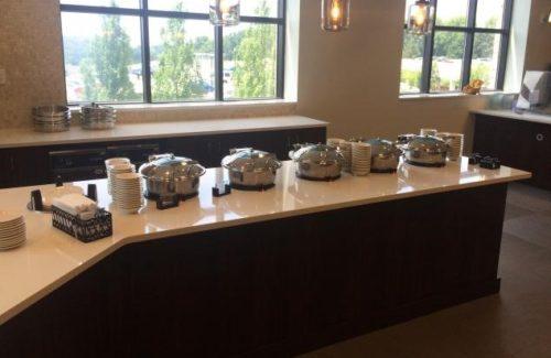 Zodiaq Snow Flurry Servery Top In Fancy Buffet