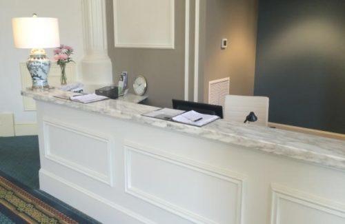 Marble Calacata Tucci Reception Area Desk