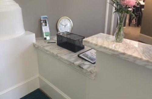 Marble Calacata Tucci Reception Desk