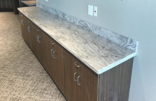 White and Gray Marbled Countertop