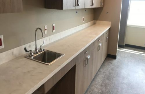 White Countertop In Doctor's Office