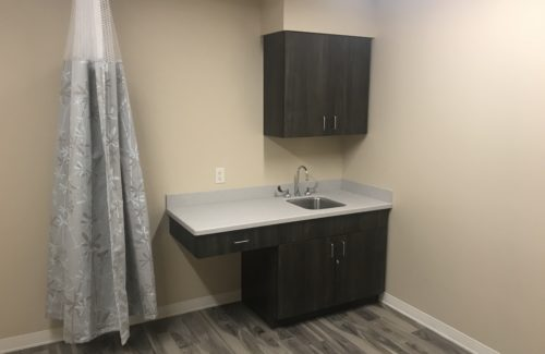 Light Gray Countertop In Clinic