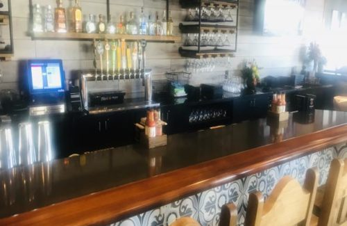 Cambria Fieldstone Countertop In Bar Area