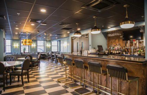 Jet Black Countertop In Restaurant