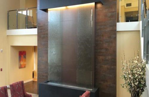 Fancy Waterfall Fixture In Waiting Room Area