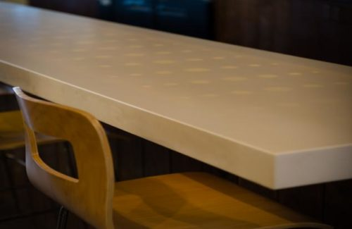 Mexitaly Style Restaurant With White Dotted Countertop