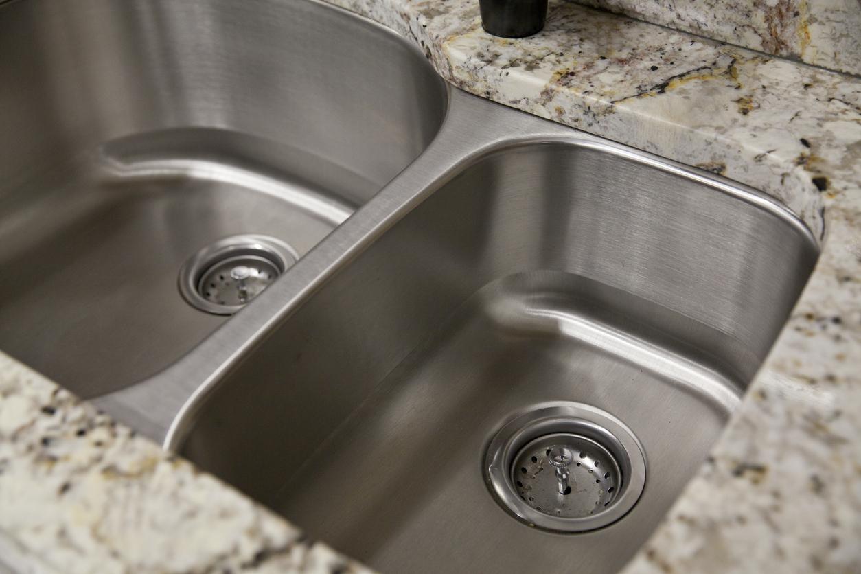 Stainless Steel Double-Basin Kitchen Sink
