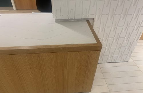 White and Wood Countertop Edge