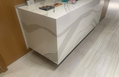 White Marbled Countertop