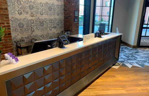 Hilton Check-In Desk